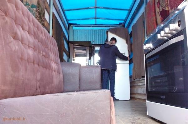 باربری اثاث کشی با کامیونت مسقف و اکیپ مجرب