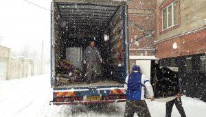 اسباب کشی در برف و باران