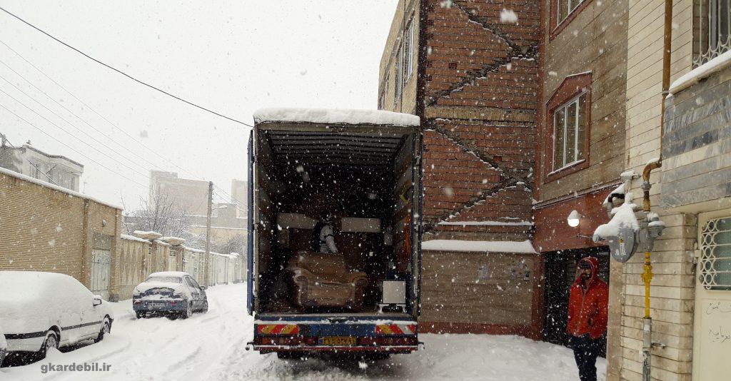 نکات حین حمل و نقل در برف و باران