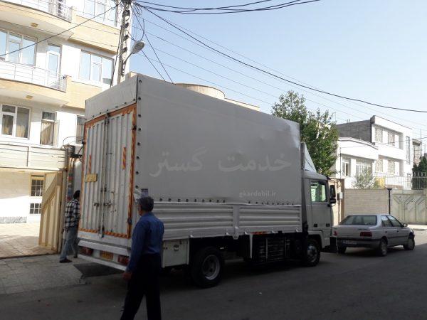 عکس اسباب کشی   تصاویرحمل اثاثیه خاور اسباب کشی ماشین باربری بسته بندی
