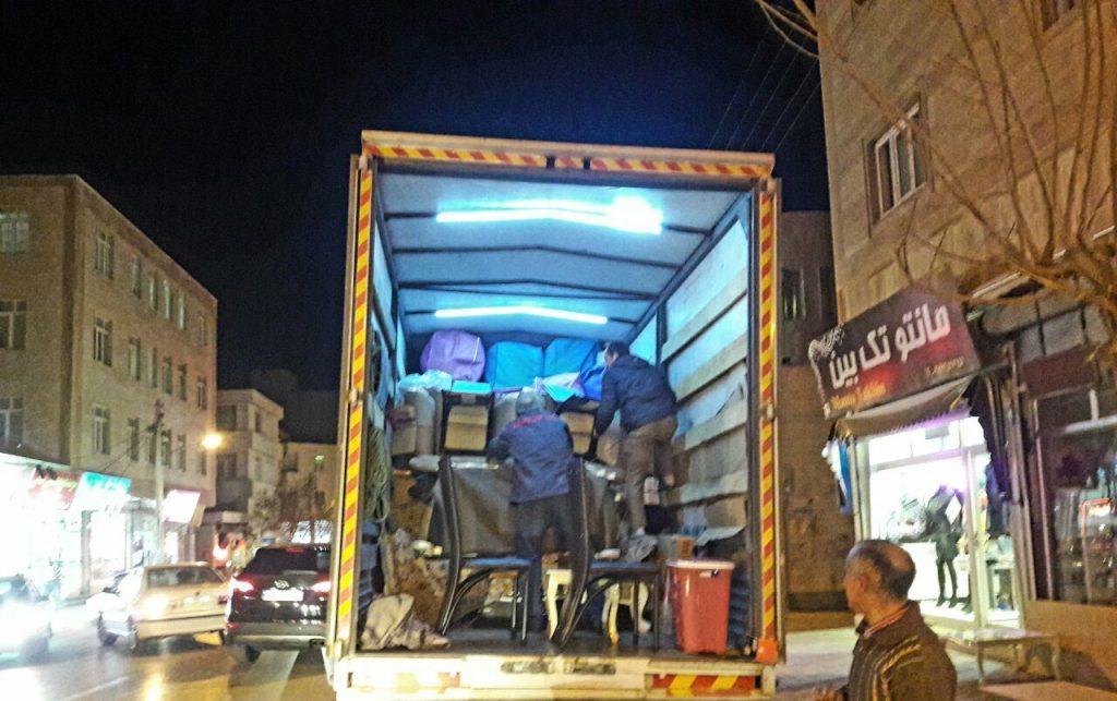 اتوبار و باربری شبانه روزی در اردبیل